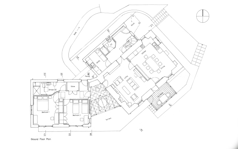 House ground floor plan - Lerigoligan