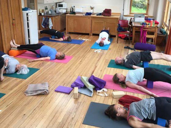 Yoga in the bothy - Lerigoligan