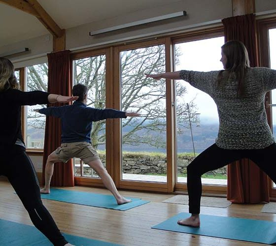 Yoga in the bothy - Lerigoligan