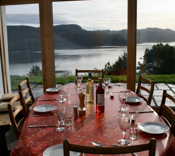 Dining table with view at Lerigoligan